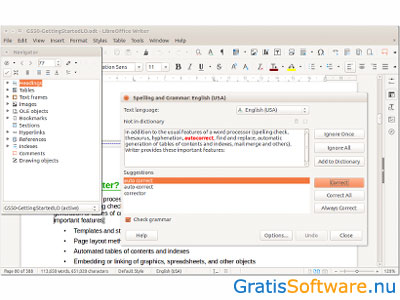LibreOffice Writer screenshot