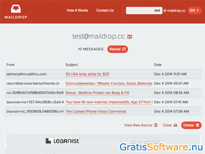 MailDrop screenshot