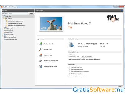 MailStore Home screenshot