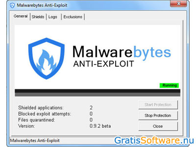 Malwarebytes Anti-Exploit screenshot
