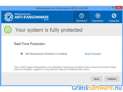 Malwarebytes Anti-Ransomware screenshot