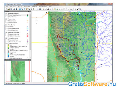 MapWindow GIS screenshot