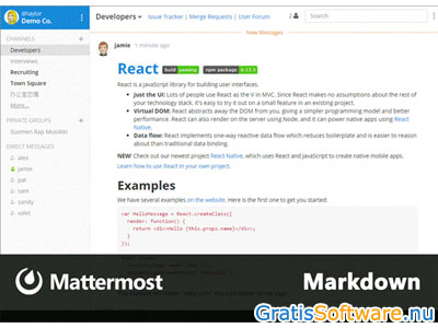 Mattermost screenshot