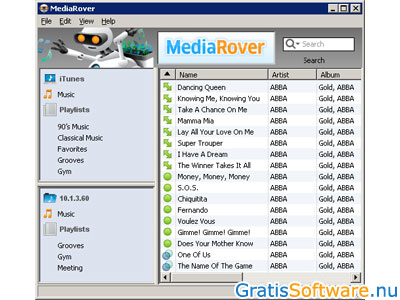 MediaRover screenshot