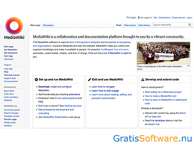 MediaWiki screenshot
