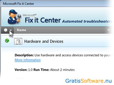 Microsoft Fix It Center screenshot