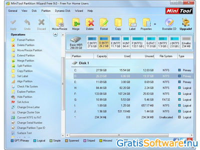 MiniTool Partition Wizard Home Edition screenshot
