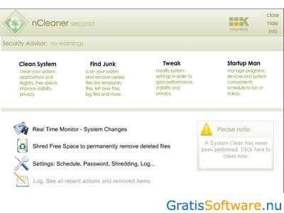 nCleaner screenshot