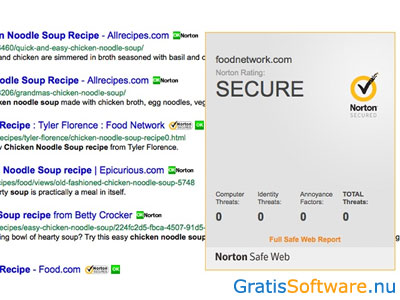 Norton Safe Web Lite screenshot