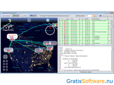 Open Visual Traceroute screenshot