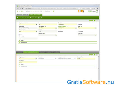 Openbravo ERP screenshot