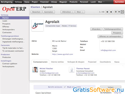 OpenERP screenshot