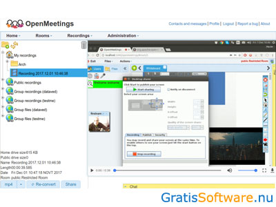 OpenMeetings screenshot