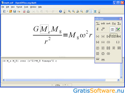 Apache OpenOffice Math screenshot