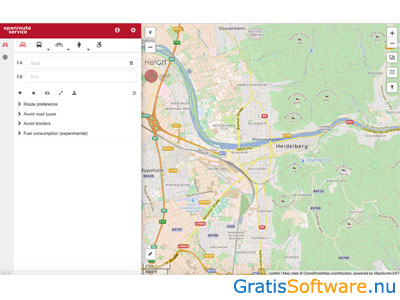 Openrouteservice Maps screenshot