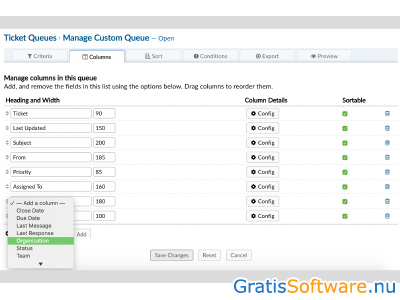 osTicket screenshot