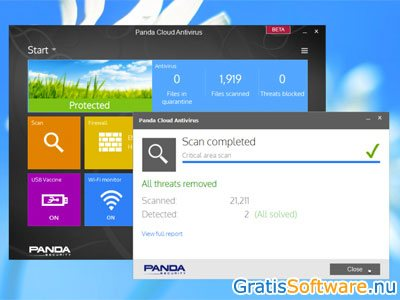 Panda Cloud Antivirus screenshot