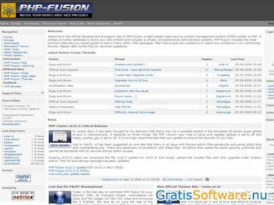 PHP-Fusion screenshot