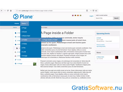 Plone screenshot