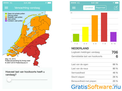 Pollennieuws App screenshot