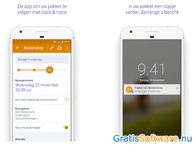 PostNL-app screenshot