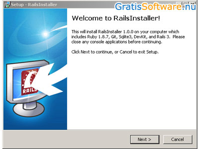 Rails Installer screenshot