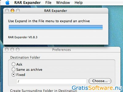 RAR Expander screenshot