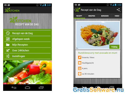 Recept van de Dag app screenshot
