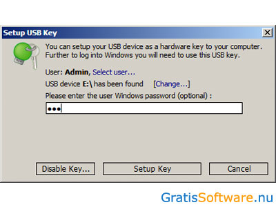 Rohos Logon Key Free screenshot