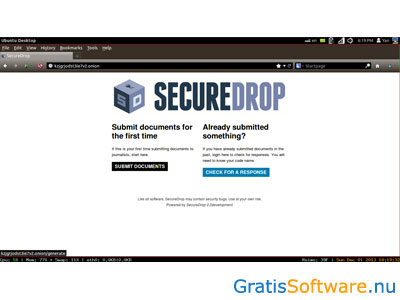 SecureDrop screenshot