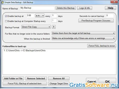 Simple Data Backup screenshot
