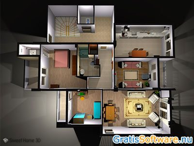 gratis 3d interieur ontwerp software downloaden. Black Bedroom Furniture Sets. Home Design Ideas