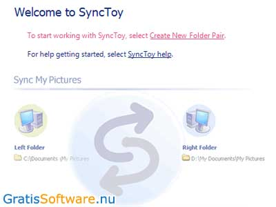 SyncToy screenshot