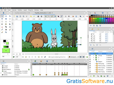 Synfig Studio screenshot