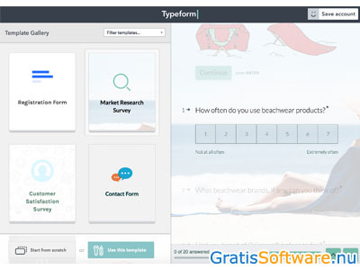 Typeform screenshot