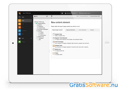 TYPO3 screenshot