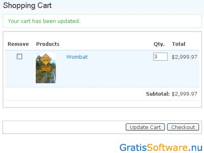 Ubercart screenshot