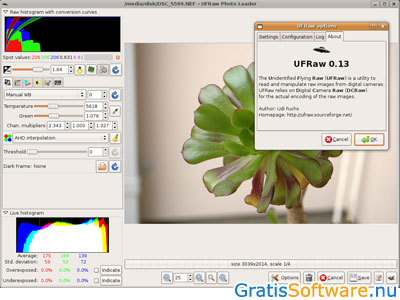 UFRaw screenshot