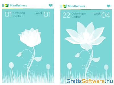 VGZ Mindfulness coach-app screenshot