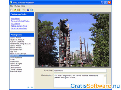 Gratis Fotoalbum (Webalbum) Software Downloaden