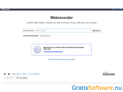 Webrecorder screenshot