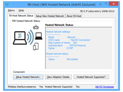 Wi-Host screenshot