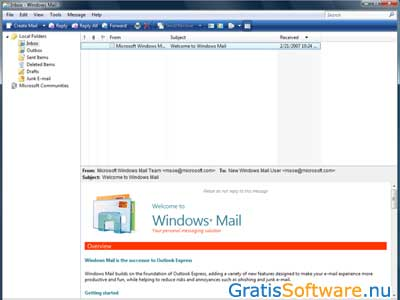 Windows Mail screenshot