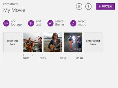 Windows Movie Creator screenshot