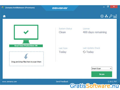 Zemana AntiMalware screenshot