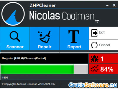 ZHPCleaner screenshot