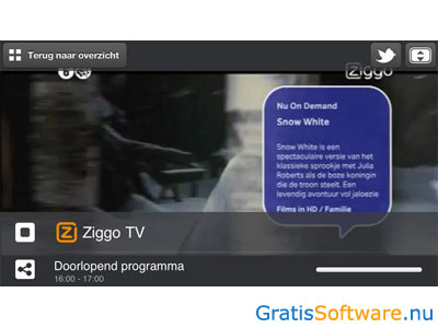 Ziggo TV App screenshot