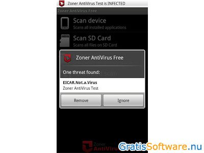 Zoner AntiVirus screenshot